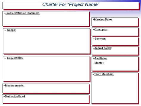 team charter template exle dmdegrace this site is the cat s pajamas