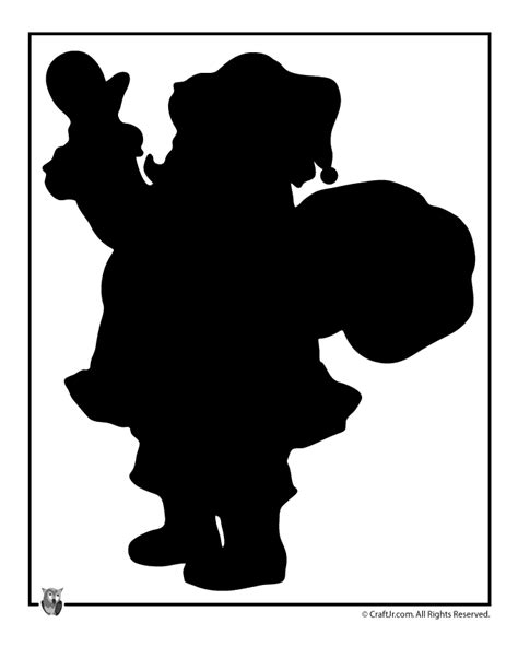printable christmas silhouettes santa claus silhouette template woo jr activities