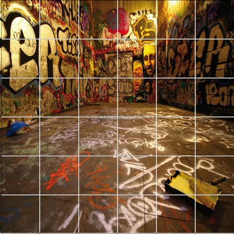 Formidable Stickers Pour Carrelage Mural Cuisine #9: sticker-carrelage-mural-graffiti-tag.jpg