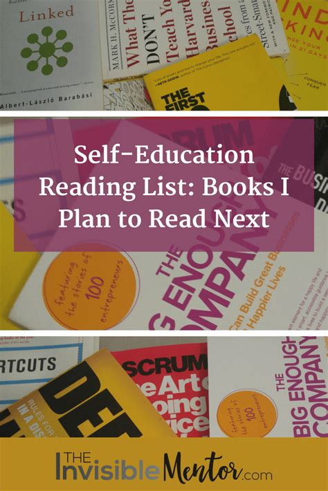 the invisible plan books self education reading list books i plan to read next