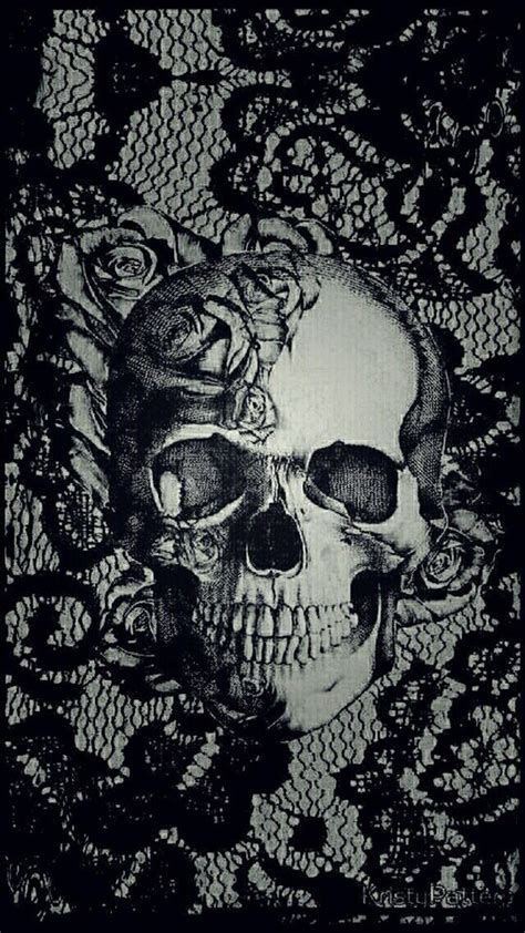 skull pattern iphone wallpaper iphone wallpaper skull dark pinteres