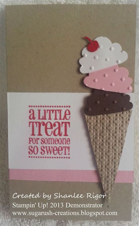 Ice Cream Gift Cards - ice cream gift card used stin up products cupcake builder punch got treats