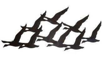 wall designs rustic metal wall large flock birds