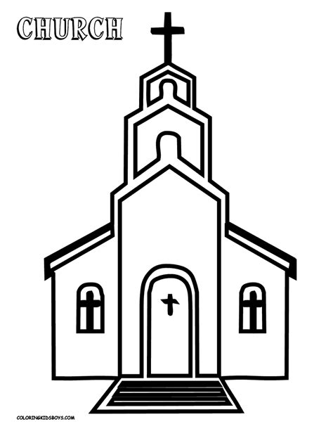 church coloring pages to download and print for free