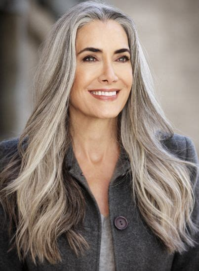 women in their 30s with gray hair manon crespi maximum talent agency model silver