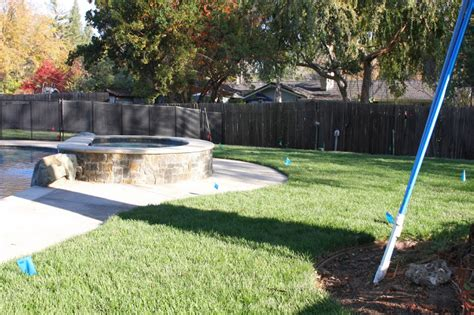 Backyard Pool Updates Outdoor Update Backyard Sod More Sprinklers Simply