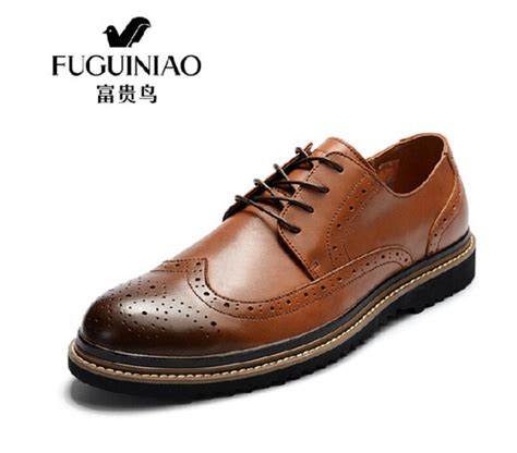 Genuine Leather Brogue Oxfords shoes brogue shoes brogue shoes wingtip genuine