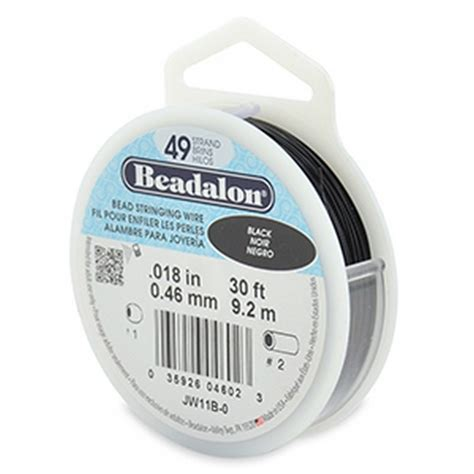 beadalon 49 strand beading wire beadalon 49 strand beading wire 0 46mm 018in black