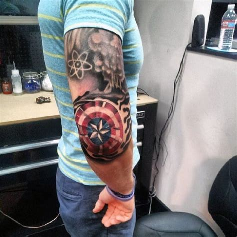 captain america shield tattoo 54 eye catching designs