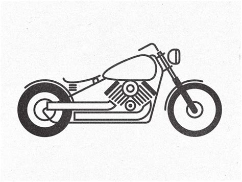 Illustrator Tutorial Motorcycle | how to create stylish pictogram inspired illustrations