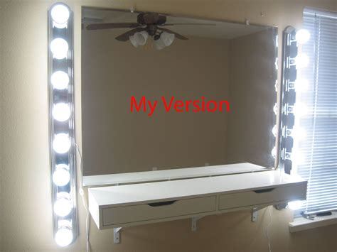 How To Hang A Vanity Mirror Chabz Diy Vanity Mirror And Lights
