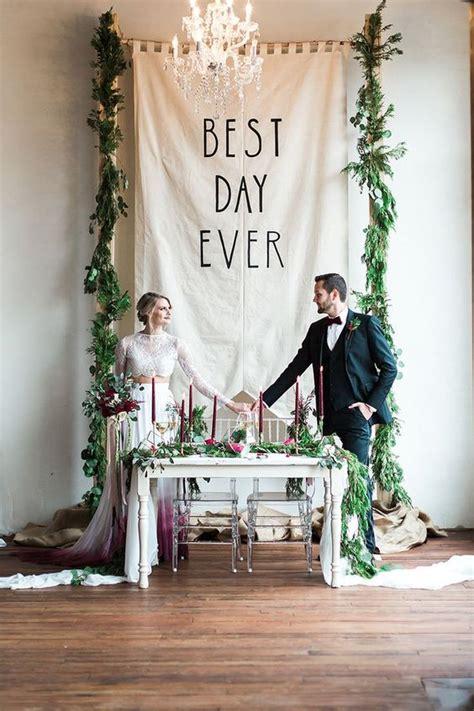 fun  creative wedding reception backdrops youll