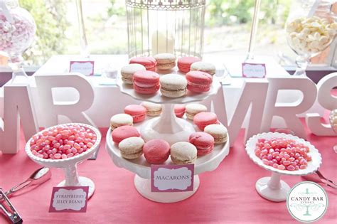 letter wedding candy tables pink white wedding candy