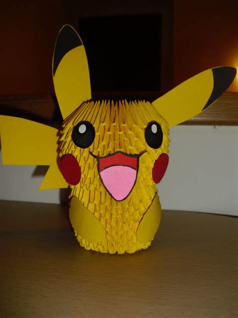 Pikachu 3d Origami - 3d origami pikachu by justtree on deviantart