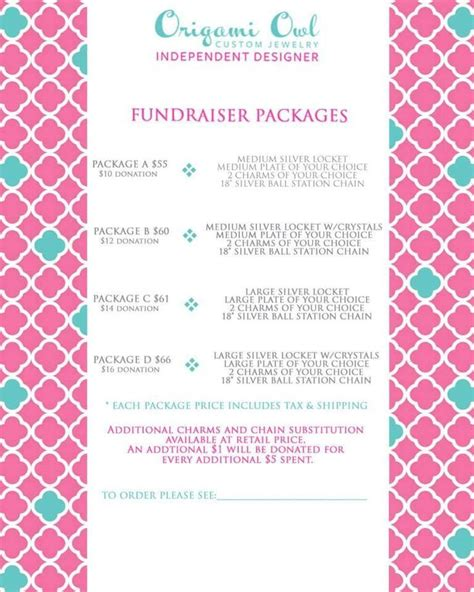 Origami Owl Brochure - origami owl fundraisers and origami on
