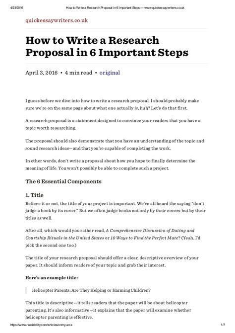 6 Steps Writing Research Paper by How To Write A Research In 6 Important Steps Www Quickessa