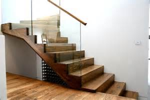 Handrails For Staircase American Oak Stair With Cut Strings And Insert Glass