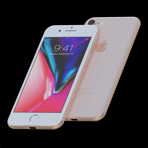 apple iphone 8 and 8 plus collection in all colo 3d model cgstudio