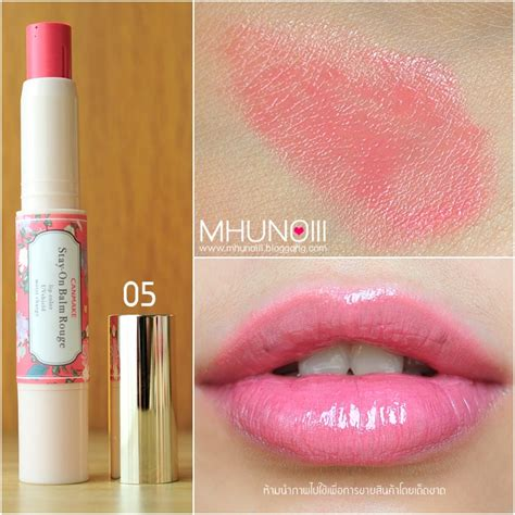 Canmake Stay On Balm 05 bloggang saray lipstick swatch canmake stay on