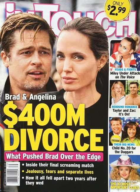 Exclusive Brangelina Threat Lifestyle Magazine by Brad Pitt Divorce Story Made Up By Tabloid