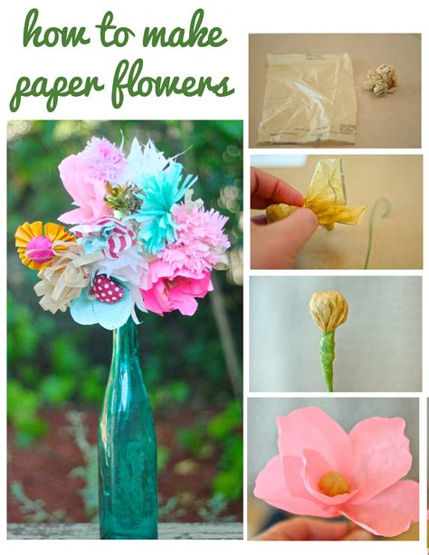 How To Make Handmade Paper Flowers - how to make paper flowers with cerruti dear