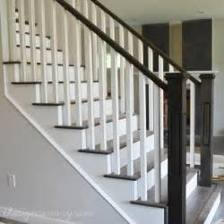 Staircase Railing Ideas Finishing Our Stair Railings More Peeks At Our Almost Finished Home Our Diy House The