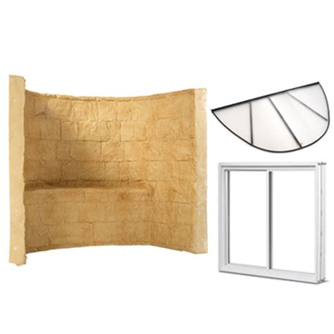 basement egress window kit premier basement well kit insulated window well and cover