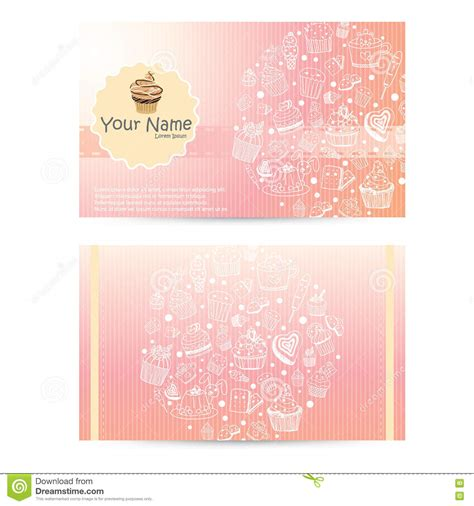 cake business cards templates free templateget com