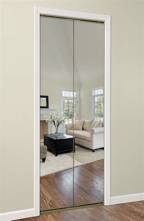 Modern Bifold Mirror Door With Cool Mirror Closet Doors On Mirror Door Closet
