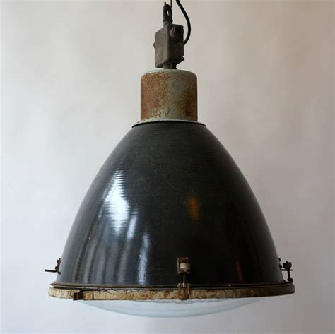 Large French Industrial Pendant Light At 1stdibs Large Industrial Pendant Lighting
