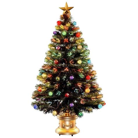 3 ft fiber optic xmas tree national tree company 4 ft fiber optic fireworks artificial tree with ornaments