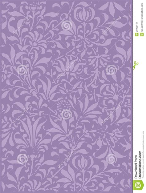 vintage purple plant scrapbook background stock