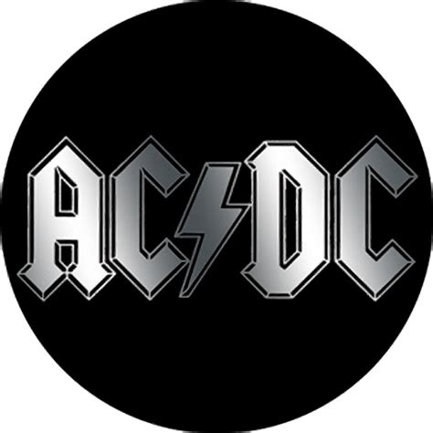 Rock Home Decor by Ac Dc Logo Metallic Button