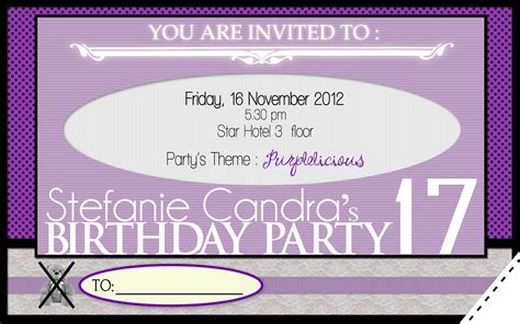 design kartu undangan sweet 17 sweet 17 birthday invitation alanarasbach com