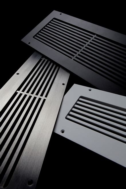 10 X 16 Floor Vent Cover by Lb Custom 3 X 18 Pro Linear Brushed Stainless Steel Vent