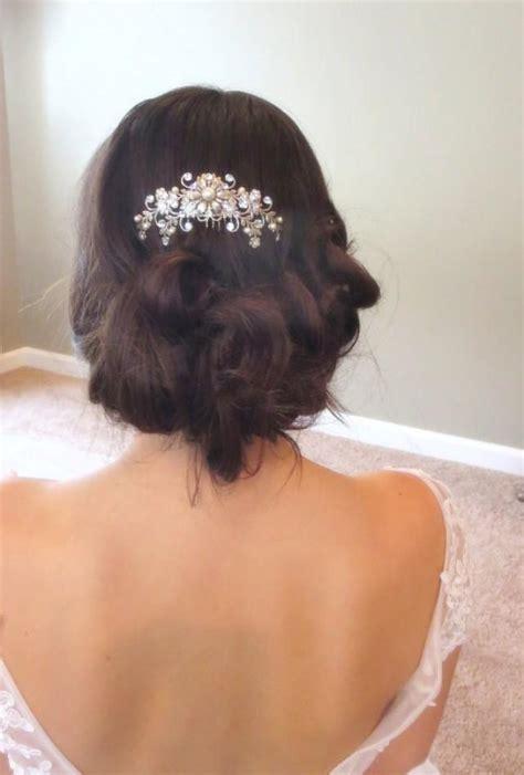 vintage inspired bridal hair combbridal hair clipwedding hair bridal hair comb wedding headpiece rhinestone hair comb