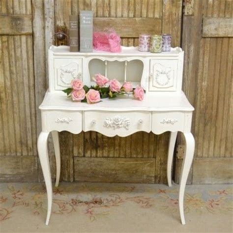 Shabby Chic Office Desk Writing Desk In White With Roses 875 00 Thebellacottage Shabbychic Ooak Chic Office