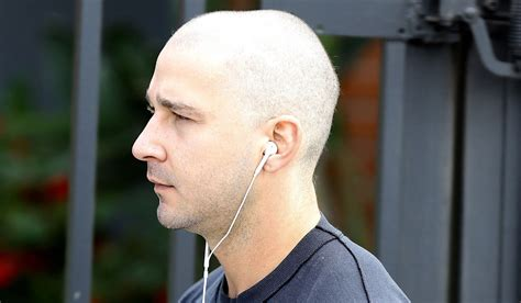 shia labeouf shaves his head see his new look shia