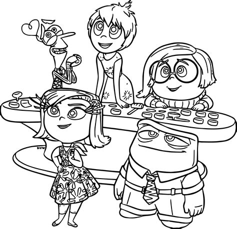 inside out coloring in pages inside out disney coloring pages coloring pages