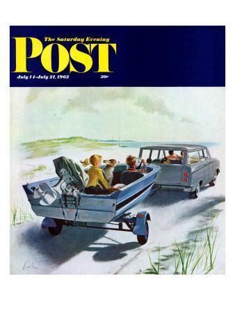 boat covers george quot highway boatride quot saturday evening post cover july 14