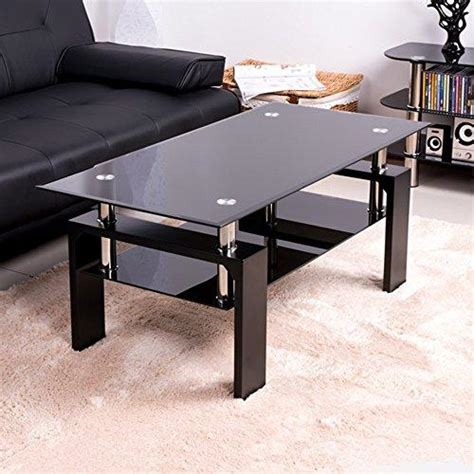 black tempered glass coffee table tempered glass coffee table black wood legs glass coffee