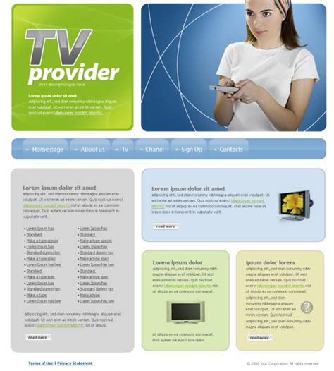 Tv Provider Website Template 4238 Electronics Gadgets Website Templates Dreamtemplate Television Website Template