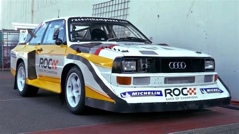Old Audi Rally Cars by Audi S1 Quattro Rally Car With Stig Blomqvist At Race Of