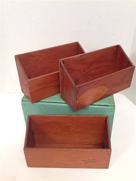 Handmade Wooden Boxes - vintage handmade wooden boxes for storage or organizing