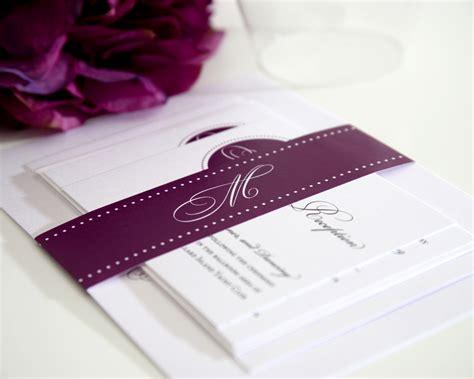 purple wedding invitations wedcardshare