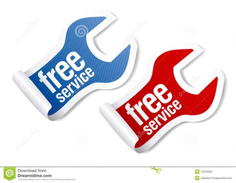 free service free service stickers stock photography image 15970502