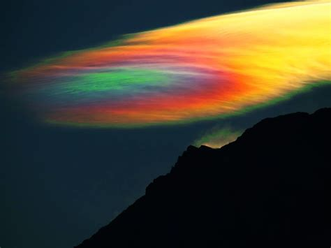 Brightest Light Ever by Strange Skies Beautiful Iridescent Clouds Appear Over