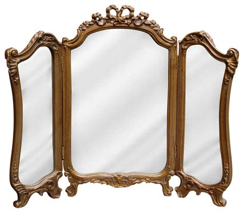 tri fold bathroom vanity mirrors tri fold vanity mirror bronze bathroom