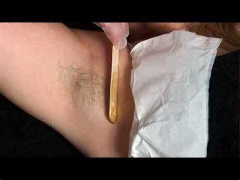 self brazilian wax tutorial diy armpit waxing how to save money and do it yourself