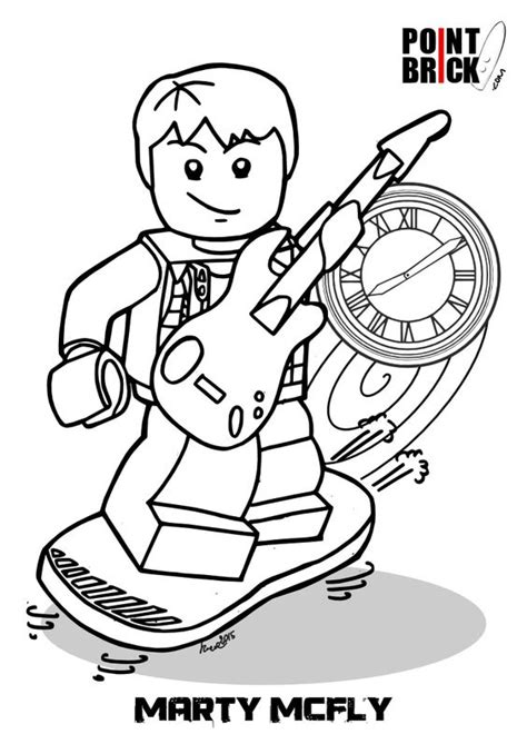coloring pages lego dimensions disegni da colorare lego dimensions marty mcfly back
